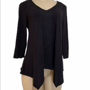 Adrianna papell top, black, size small